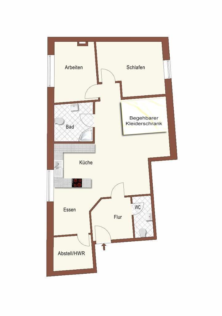 Grundriss Dachgeschoßwohnung